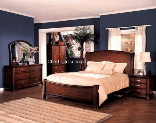 5pc Soho Style Hardwoods Oriental King Size Bed Com0lete Bedroom Ser