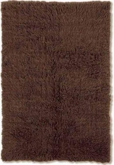 6' X 9' Flokati Area Rug - 100% Wool Cocoa Color