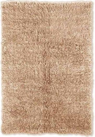 6' X 9' Flokati Area Rug - 100% Wool Tan Color