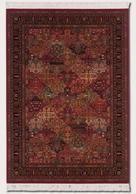 6'6&quot X 10'1&quot Area Rug Classic Persian Pattern In Antique Red