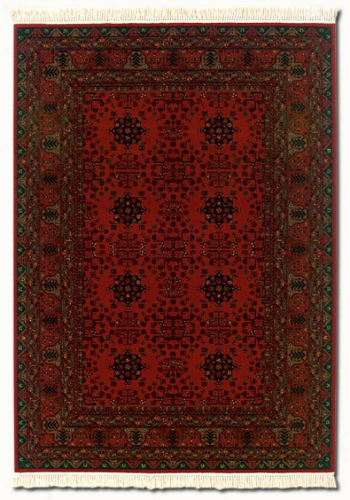 6'6&quoy X 10'1&quot Kashimar Afghan Red Classic Persian Design Area Rug