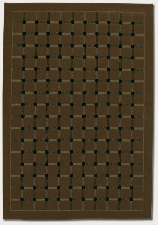 6'6&quot X 9'6&quot Area Rug Grid Pattern In Coffee Color