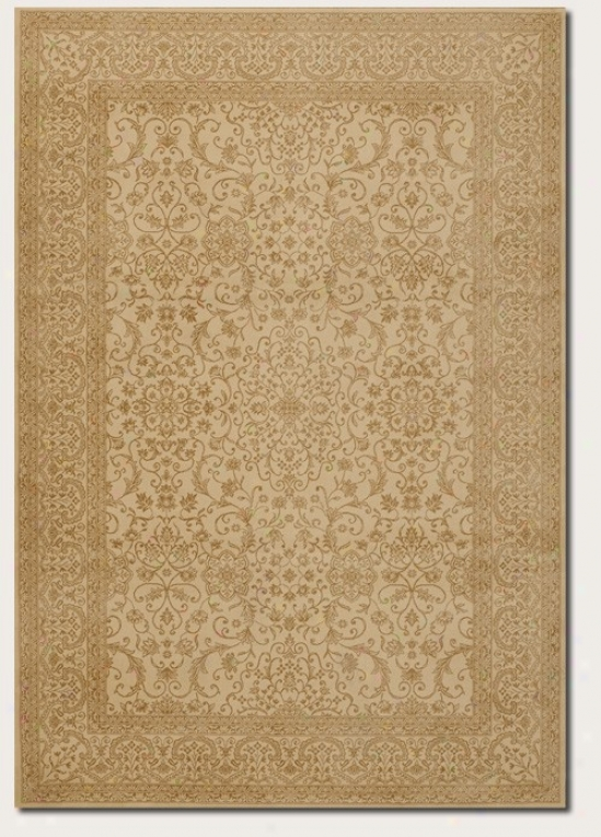 6'6&quot X 9'6&quuot Area Rug Persian Floral Pattern In Ivory