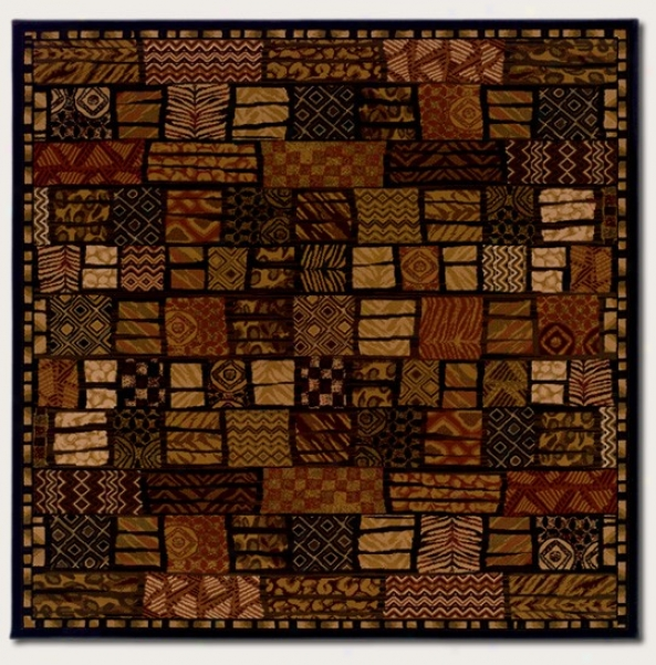 7'10&quot Adjusted Area Rug Checkered Style With Animal Prints