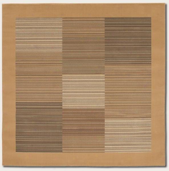 7'10&quot Adjust Area Rug Slender Stripe Pattern With Tan Border