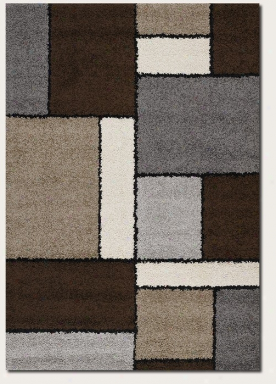 7'10&quot X 10'10&quot Area Rug Contemporary Style In Chocolate And Sand