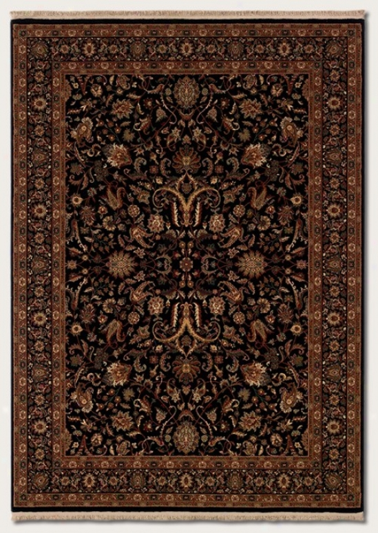 7'10&quot X 10'2&quot Area Rug First-rate Persian Design In Black