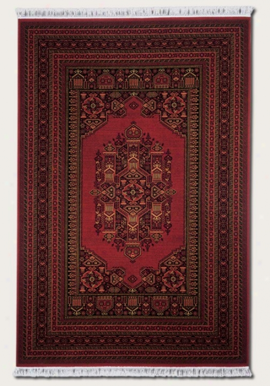 7'10&quot X 10'3&quot Area Rug Persian Pattern In Burgundy