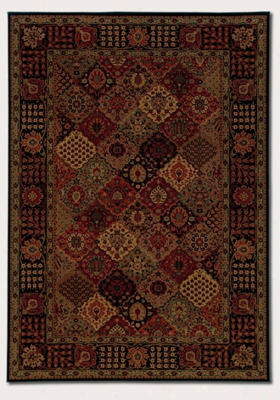 7'10&quot X 11'2&quot Area Rug Classic Persian Pattern In Burgundy