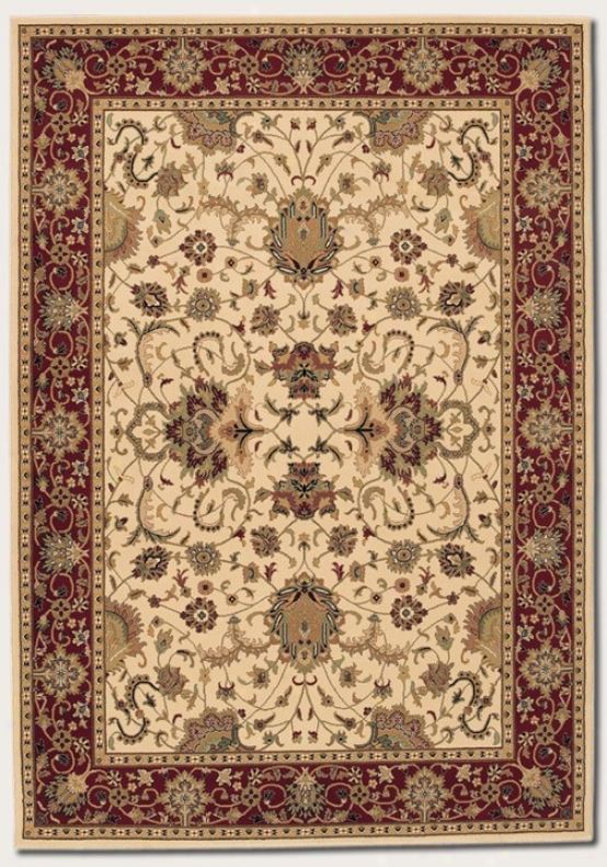 7'10&quoy X 11'2&quot Area Rug Classic Persian Pattern In Cream