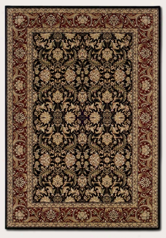 7'10&quot X 11'2&quot Area Rug Classic Persian Pattern In Black Anr Burgundy