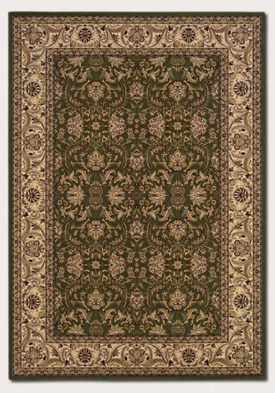 7'10&quot X 11'2&quot Area Rug Classic Persian Pattern In Deep Sage