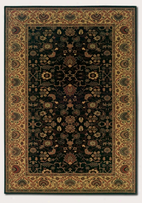 7'10&quot X 11'2&quot Area Rug Classic Persian Pattern In Black Color