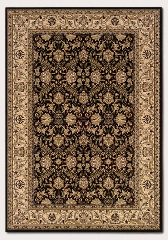 7'10&quot X 11'2&quot Area Rug Classic Persian Pattern In Black And Crã¸me