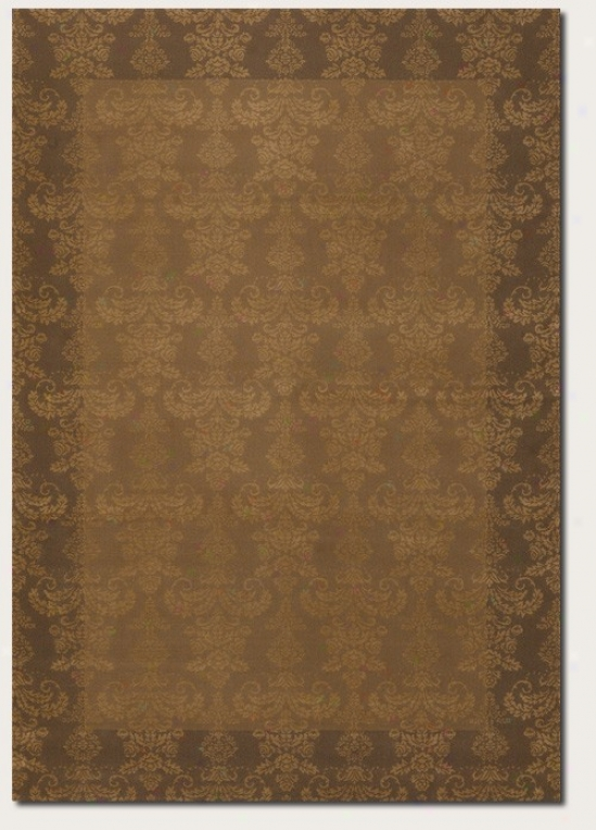 7'10&quot X 11'2&quot Area Rug Damask Pattern In Beige Color