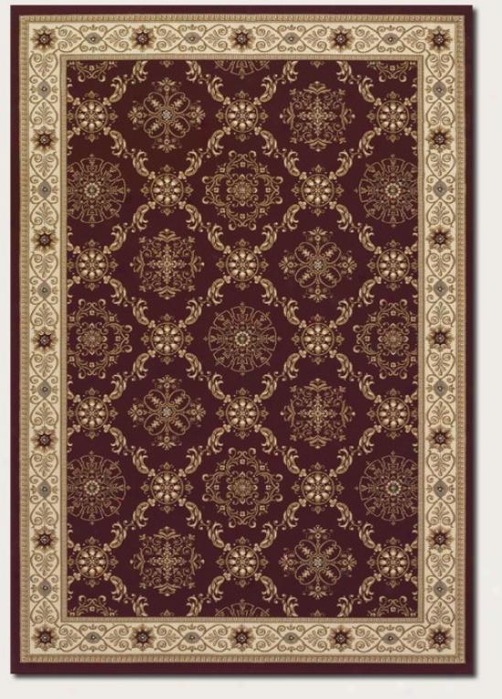 7'10&quot X 11'2&quot Region Rug Persian Rhombus Pattern In Persian Red