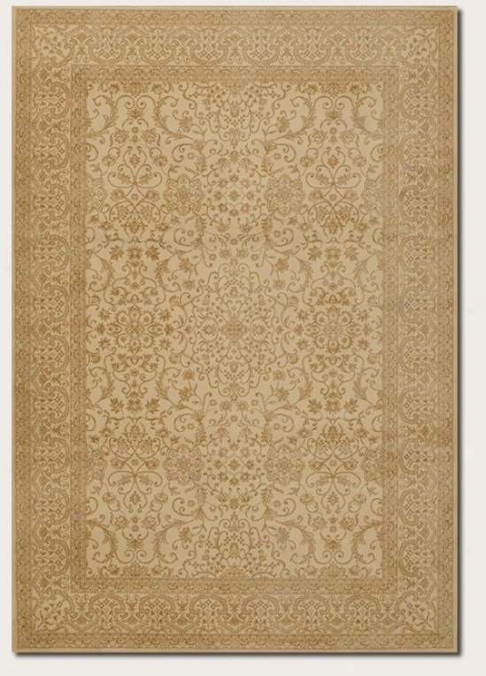 7'10&quot X 11'2&quot Area Rug Persian Floral Pattern In Ivory