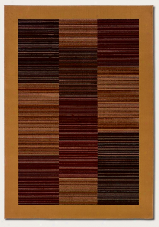 7'10&quot X 11'2&quot Area Rug Slender Stripe Figure With Camel Border