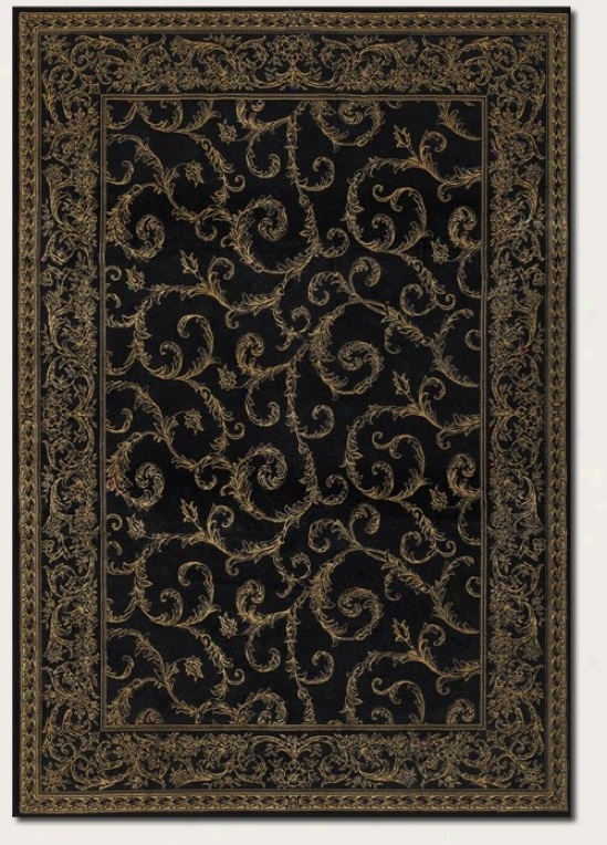 7'10&quot X 1'1&quot Area Rug Traditional Scroll Pattern In Black