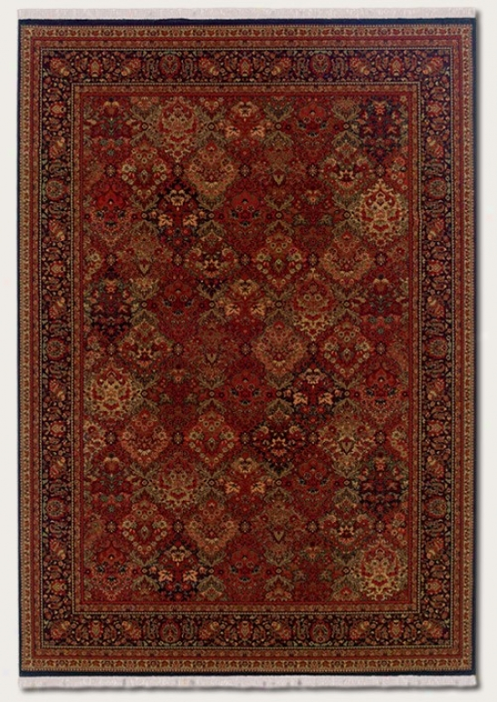 7'10&quot X 11'3&quot Area Rug Classic Persian Design In Burgundy