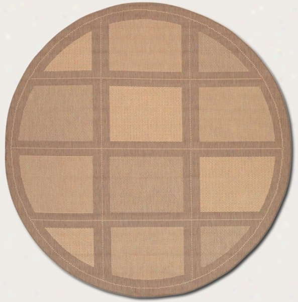 7'6&quot Round Area Rug Contemporary Grid Design In Essential