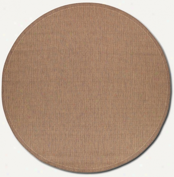 7'6&quot Make full Saddle Stitch Cocoa Unaffected Indoor/outdoor Area Rug