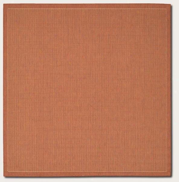 7'6&quot Square Area Rhg Conteemporary Style In Terra-cotta Color