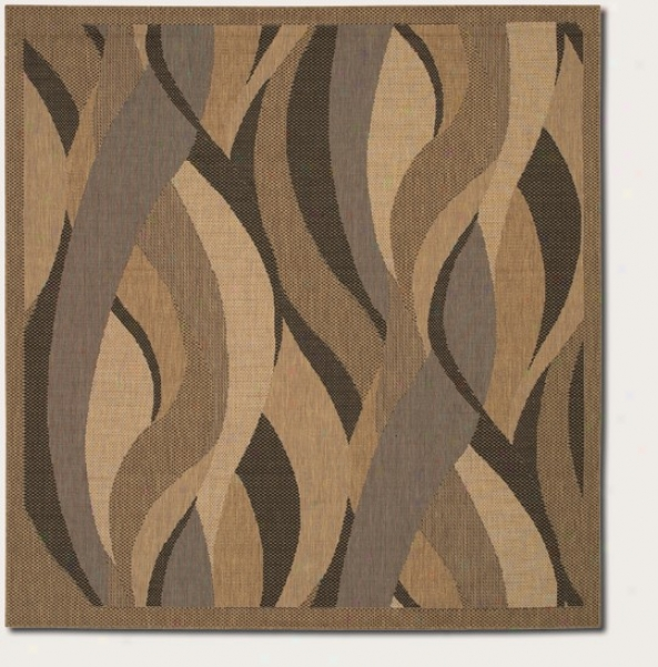 7'6&quot Square Area Rug Beckon Design In Natural And Black