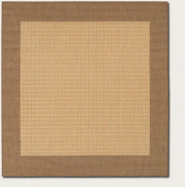 7'6&quot Square Area Rug With Border In Natural Color