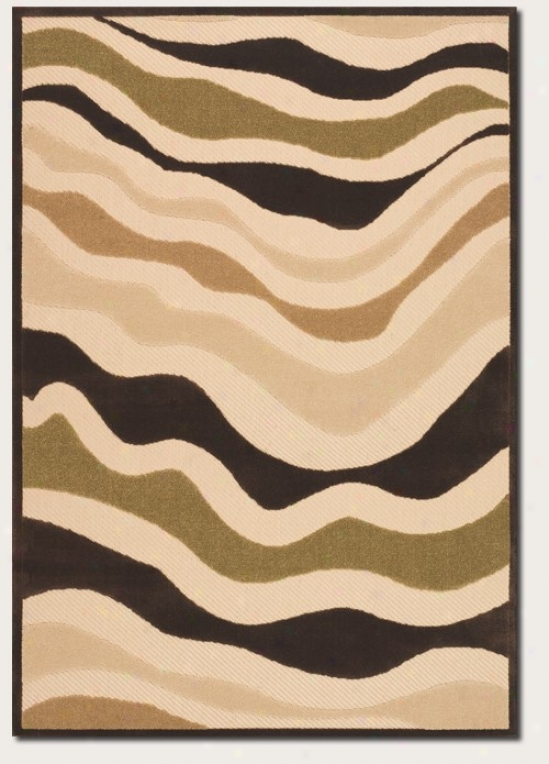 7'6&quot X 10'9&quot Area Rug Contemporary Style In Sand And Brown