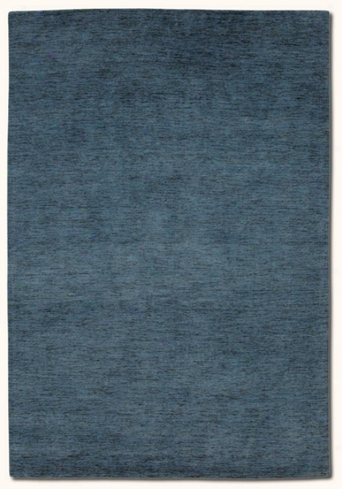7'9&quot X 9'9&quot Contemporary Aura Blue Mercury Area Rug