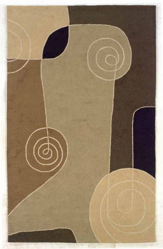 8' X 10' Indoor Outdoor Rug - Contemporary Hand Hooked Rug In Brown And Sage Color
