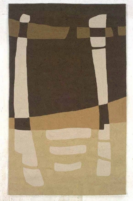 8' X 10' Indoor Outdoor Rug - Transitional Hand Hooked Rug In Brown And Sage Color