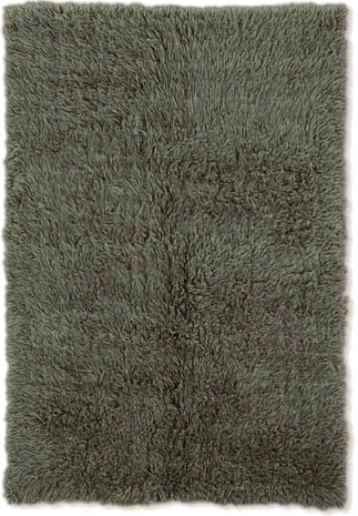 8' X 10' Recent Flokati Area Rug - 100% Wool Olive Color