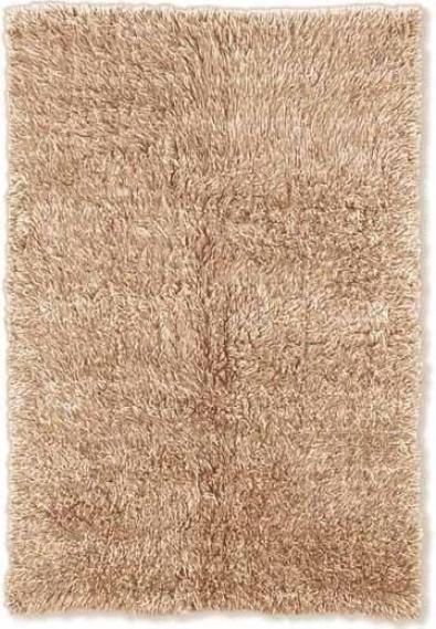 8' X 10' New Flokati Area Rug - 100% Wool Tan Color