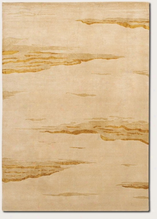 8' X 11' Region Rug Contemporary Style In Beige Wheatfield