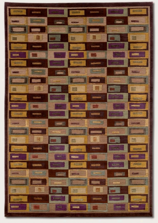 8' X 11' Area Rug Con5emporary Style In Brown And Mocha