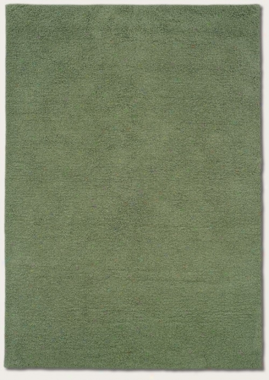 8' X 11' Area Rug Contemporary Style In Mint Color