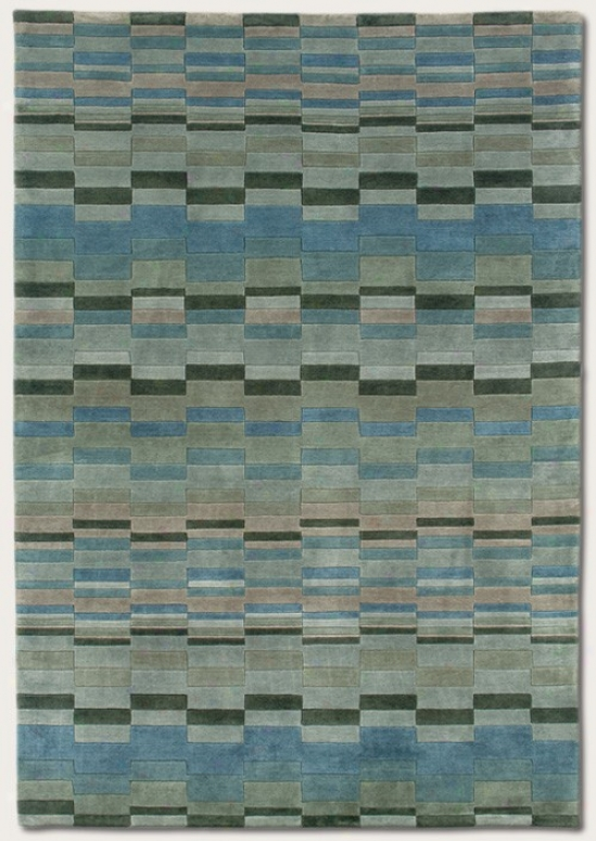 8' X 11' Area Rug Contemporary Diction In Princess Blue Color