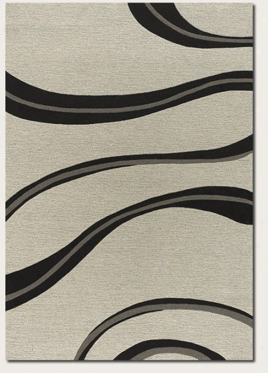 8' X 11' Area Rug Contemporary Style In White And Grey