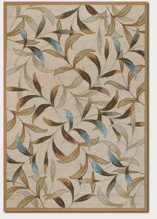 8' X 11' Area Rug Floral Pattern In Pedantic  And Ivory