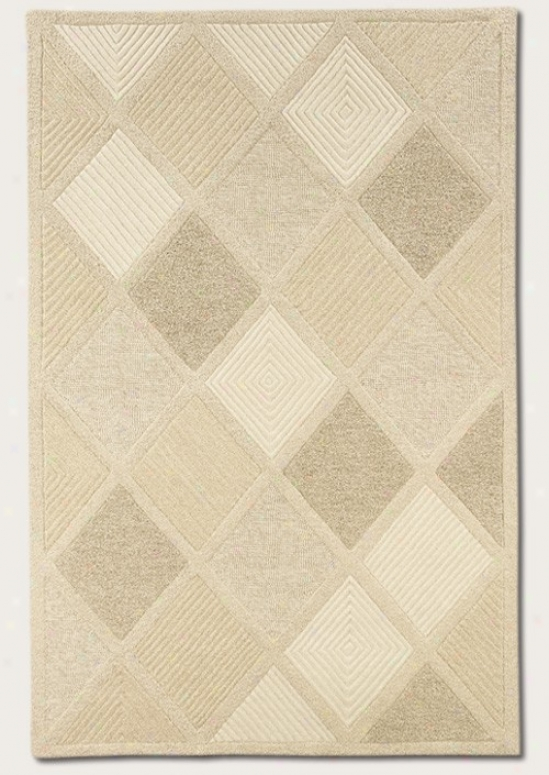 8' X 11' Area Rug Hand Crafted Brilliant Pattern In White