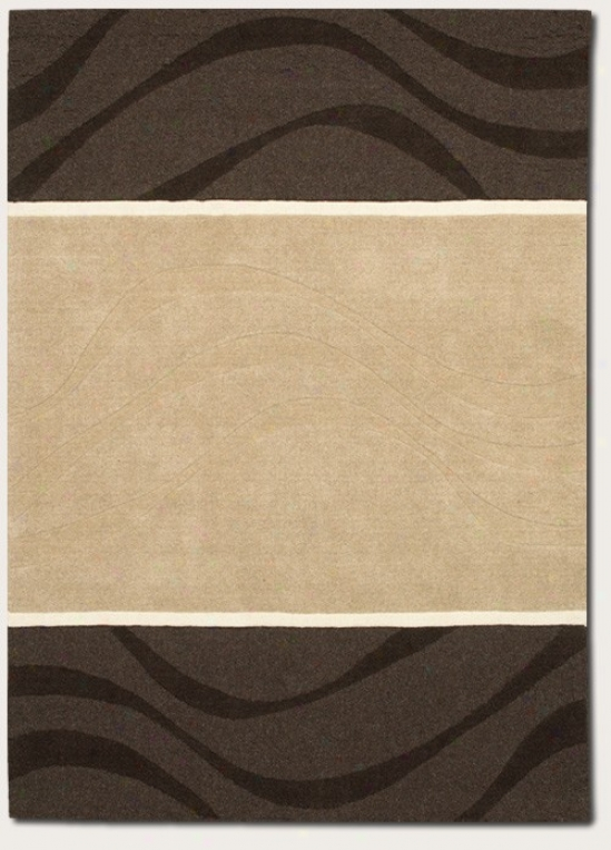 8' X 11' Area Rug Handmade Contemporary Style In Natural Grey