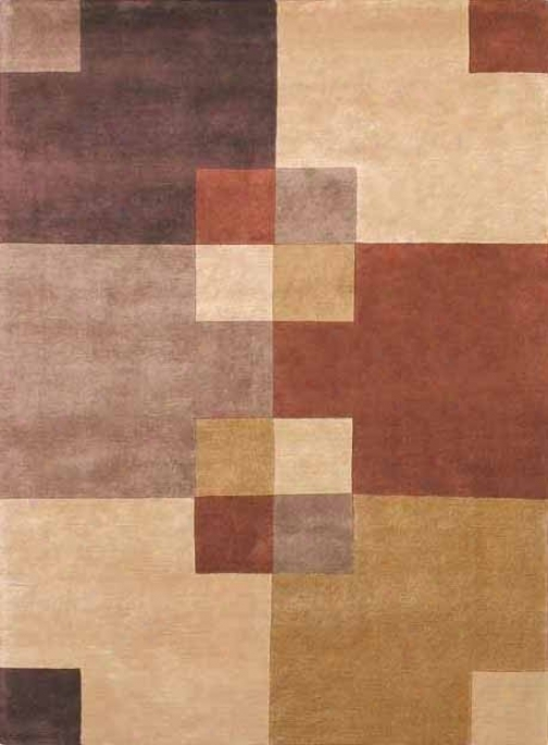 8' X 11' Hand-knotted Wool Rug Napoli Camel And Rust Color