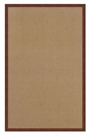 8' X 11' Lead Tufted Area Rug In Cprk With Brown Border
