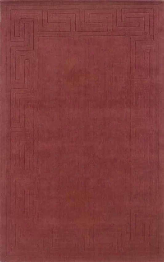 8 'X 11' Handmade Wool Rug Cinnabar Color With Hidden Design