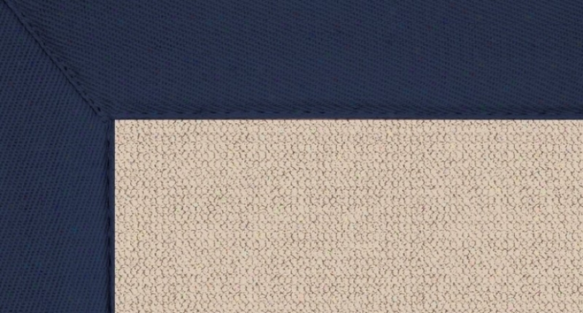 8' X 11' Ntaural Wool Rug - Athena Hand Tufted Rug With Blue Put a ~ upon