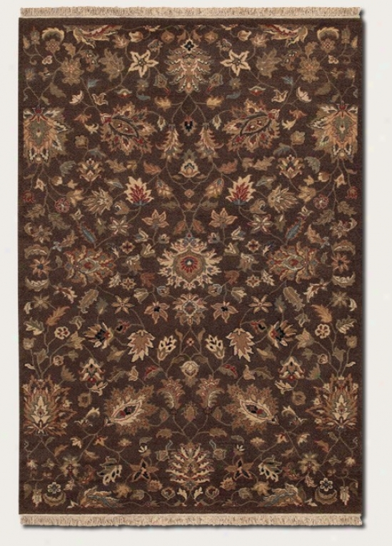 8' X 11'3&quot Area Rug Floral Pattern In Cocoa Color