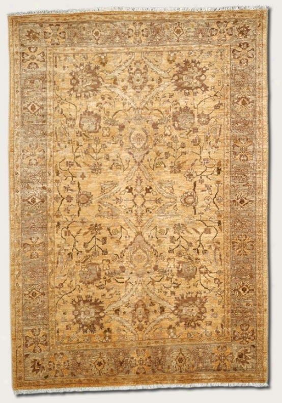 8' X 11'6&quot Area Rug Eco-friendly Vintage Pattern In Mocha