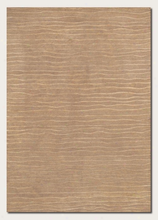 8' X 11'6&quot Area Rug Hand Crafted Contemporary Style In Taupe